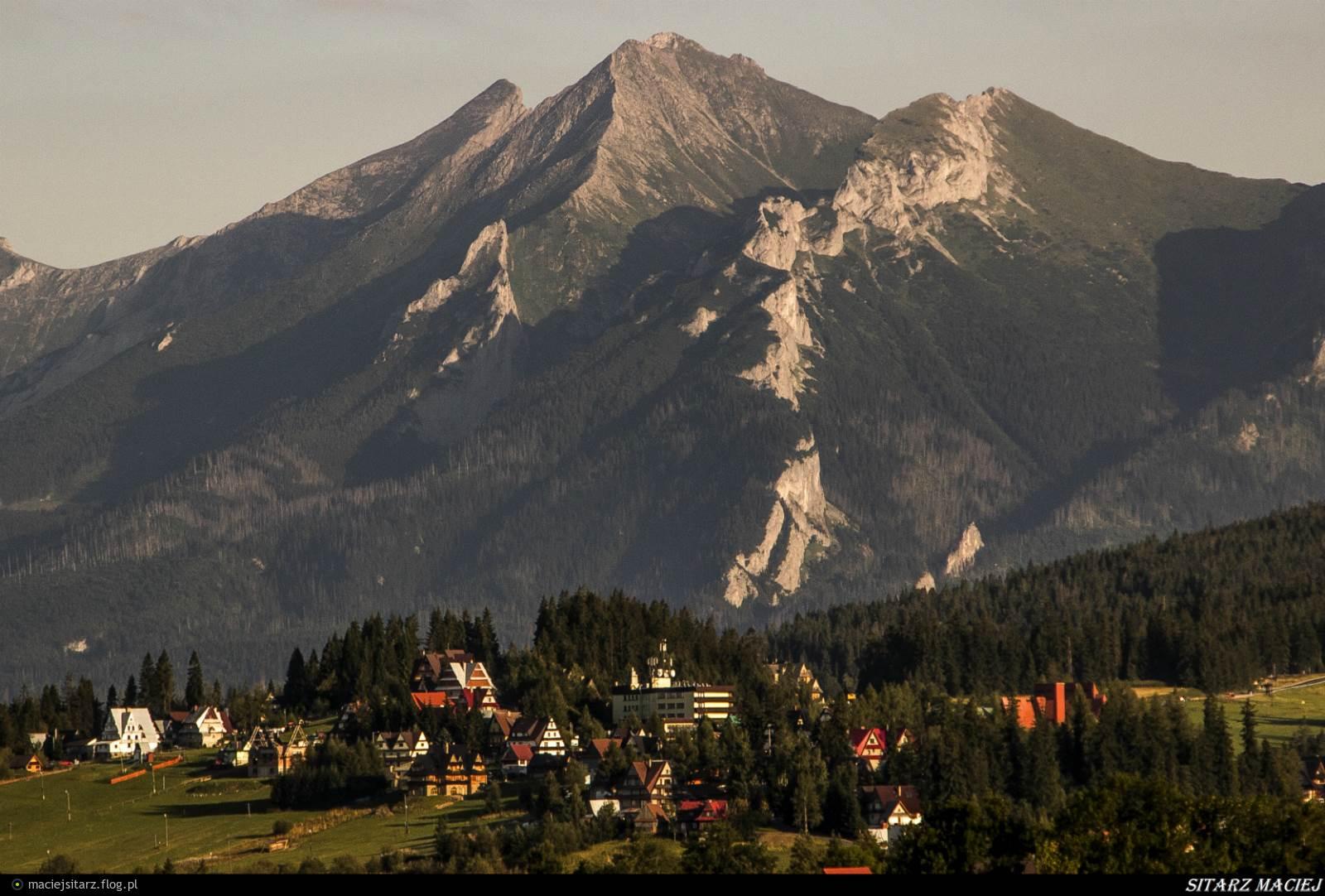 Widok z Bukowina Tatrzanska