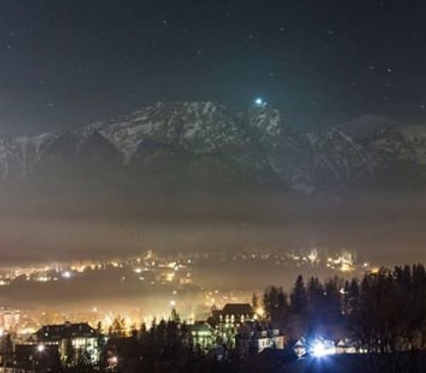 Wieczorna noc Panorama 360 Zakopane