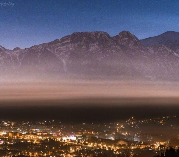 Piękny widok Panorama Tatr